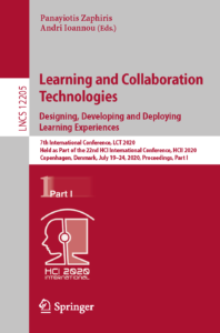 Cover page 2020 Book LearningAndCollaborationTechnologies