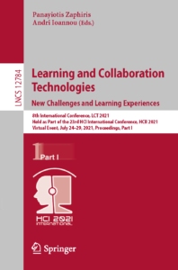 Cover page 2021 Book LearningAndCollaborationTechnologiesPart1