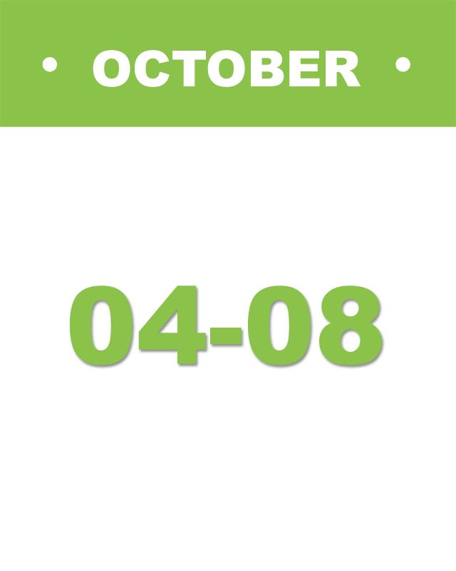 calendar image October 04-08